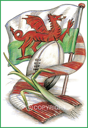 Welsh Card Design No 2 - Welsh Greeting Card