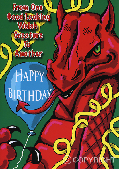 Design PB 32 - Welsh Birthday Card