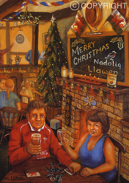Christmas cheers - Welsh Christmas Card