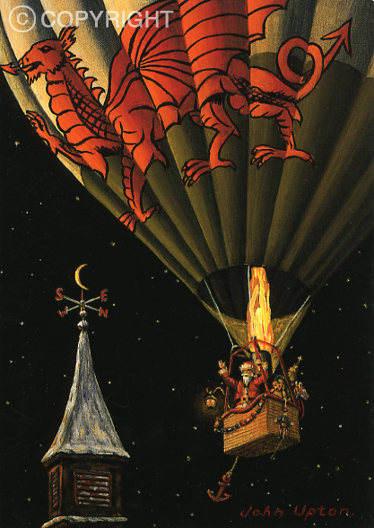 Flying High - Welsh Christmas Card