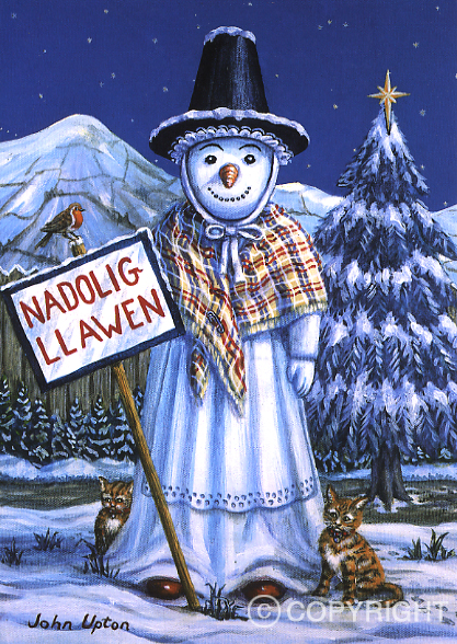 Snowlady - Welsh Christmas Card
