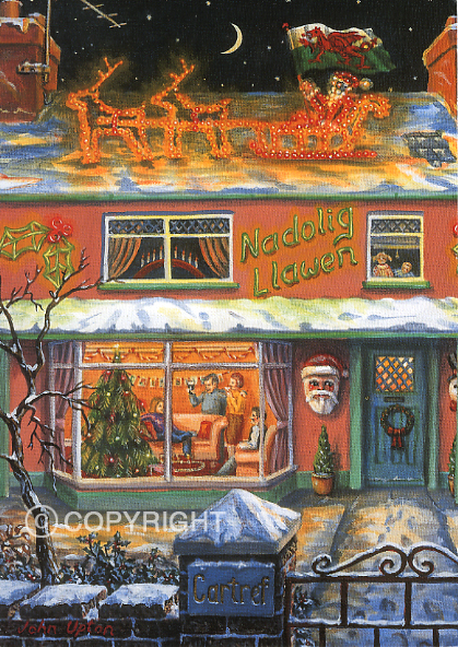 Christmas Lights - Welsh Christmas Card