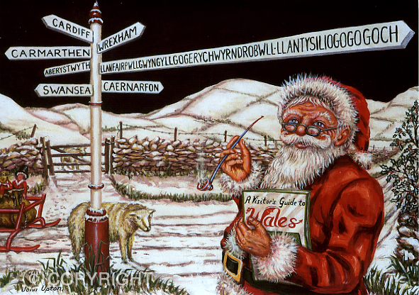 Crossroads - Welsh Christmas Card