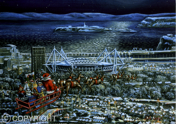 Cardiff Christmas - Welsh Christmas Card