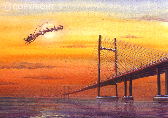 Avoiding the Toll - Welsh Christmas Card