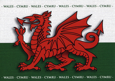 Welsh Dragon Card Design BL 1 - Welsh Greeting Card
