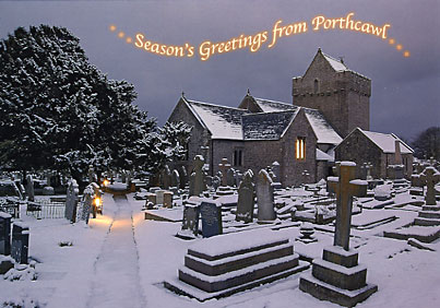 Porthcawl Christmas Card Featuring Newton Church