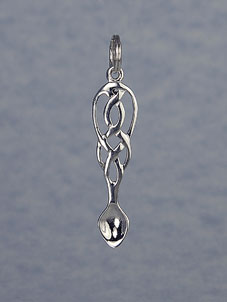 Silver Lovespoon Pendant ( Celtic Knot )