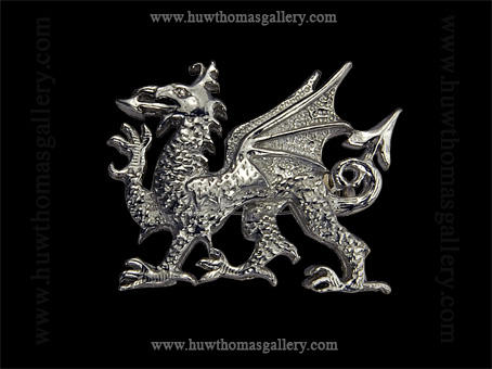 Pewter Welsh Dragon Brooch