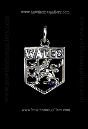 Silver Welsh Dragon Pendant / Necklace (Wales)