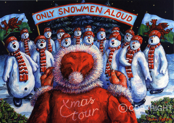 Only Snowmen Aloud - Welsh Christmas Card