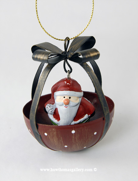 Christmas Tree Bauble with Santa Claus inside