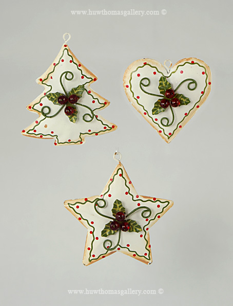 Christmas Decorations Star, Heart & Christmas Tree
