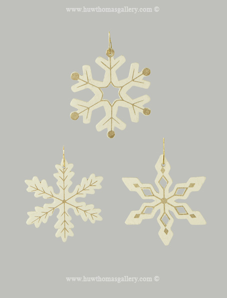 Snowflake Decorations for the Christmas Tree