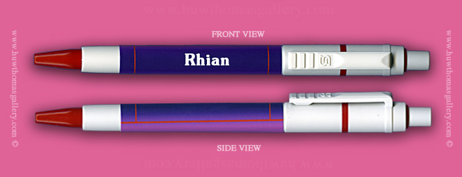 Female Welsh Name:  Rhian - on a Pen ( Girls / Womens Name )