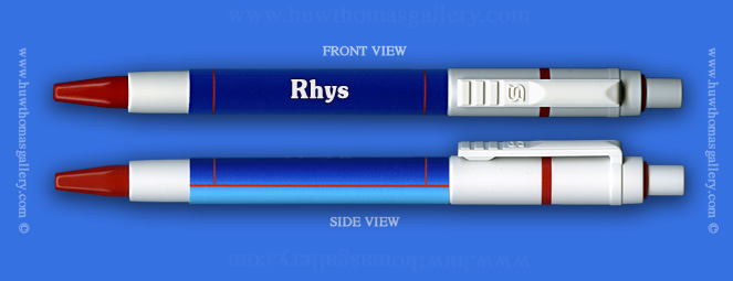 Male Welsh Name: Rhys - on a Pen ( Boy's / Man's Name )