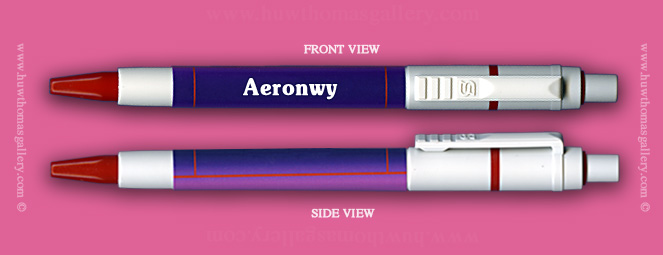 Female Welsh Name:  Aeronwy - on a Pen ( Girls / Womens Name )