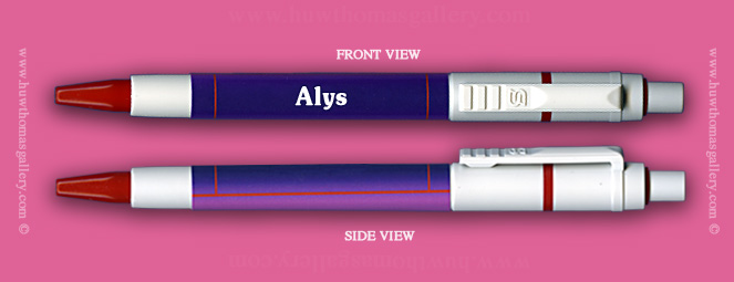 Female Welsh Name:  Alys - on a Pen ( Girl's / Women's Name )