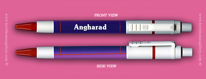 Female Welsh Name:  Angharad - on a Pen ( Girl's / Women's Name )