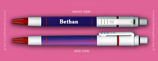 Female Welsh Name:  Bethan - on a Pen ( Girls / Womens Name )