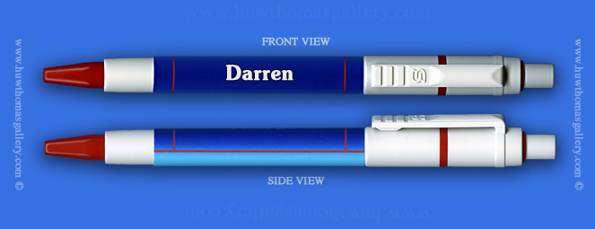 Male Welsh Name: Darren - on a Pen ( Boy's / Man's Name )