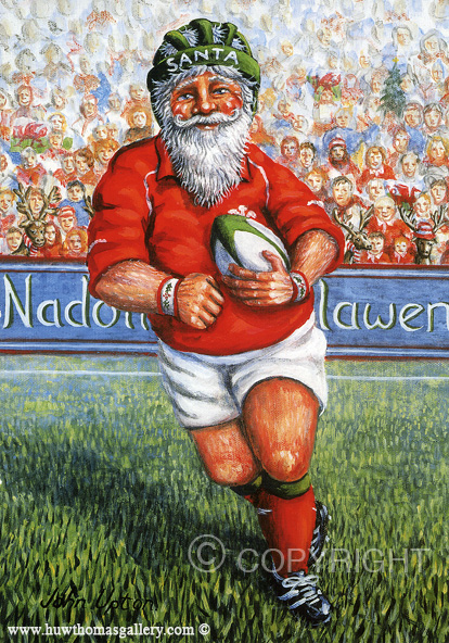 Playing for Wales - Welsh Christmas Card