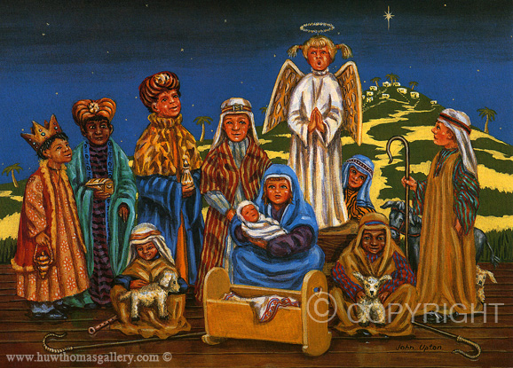 Away in a Manger  - Welsh Christmas Card