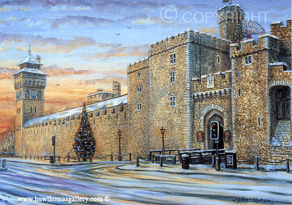 The Christmas Tree - Cardiff Castle - Welsh Christmas Card