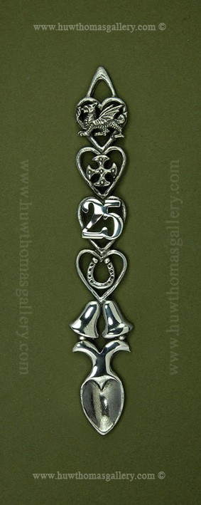 25th Wedding Anniversary Pewter Lovespoon (Bells)(S)