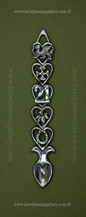 This 21st Birthday Pewter Lovespoon