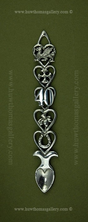 40th Birthday Pewter Lovespoon