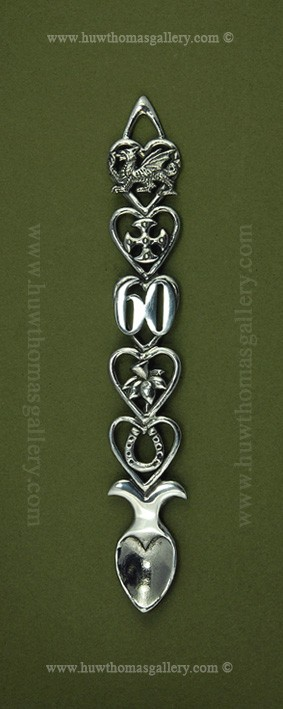 60th Birthday Pewter Lovespoon