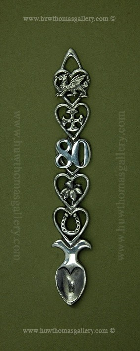 80th Birthday Pewter Lovespoon