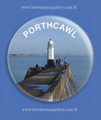 Porthcawl Fridge Magnet   ( Round )