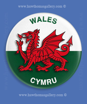 Welsh Dragon / Welsh Flag Fridge Magnet