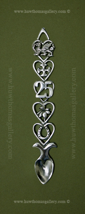 25th Anniversary Pewter Lovespoon (SAB)(S)