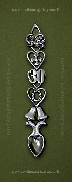 30th Anniversary Pewter Lovespoon (BELLS)