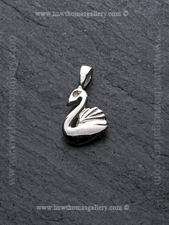 Silver Swan Pendant / Necklace