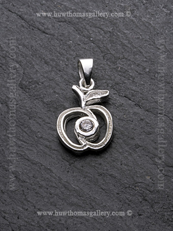 Silver Apple Pendant / Necklace