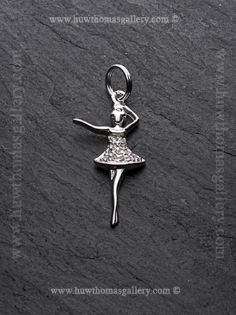 Silver Ballerina Pendant / Necklace