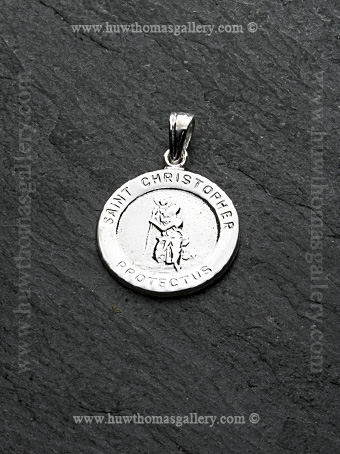 Silver St Christopher Pendant / Necklace