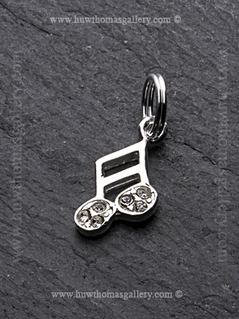 Silver Musical Note Pendant / Necklace