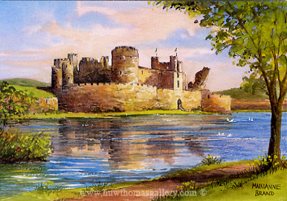 Caerphilly Castle by Marianne Brand