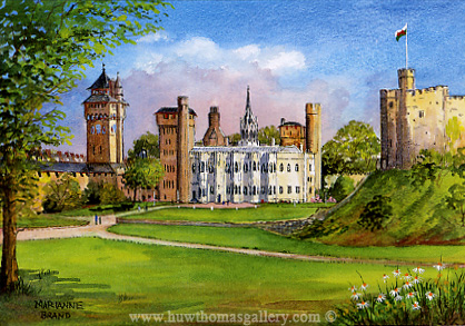 Cardiff Castle by Marianne Brand