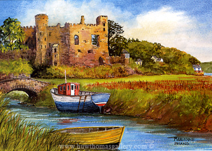Laugharne Castle & Dylan Thomas' Boat House by Marianne Brand