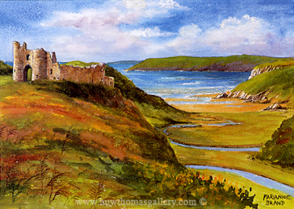 Three Cliffs Bay & Pennard Castle by Marianne Brand