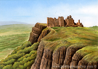 Carreg-Cennen-Castle by Adrian James