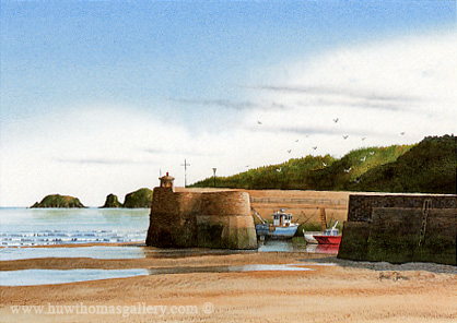 Saundersfoot Harbour by Adrian James