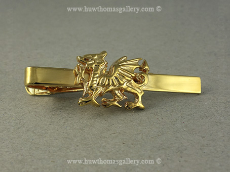 Welsh Dragon Tie Slide (Gold Finish)