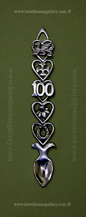 100th Birthday Pewter Lovespoon (S)